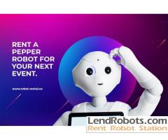 Pepper Robot for Rent